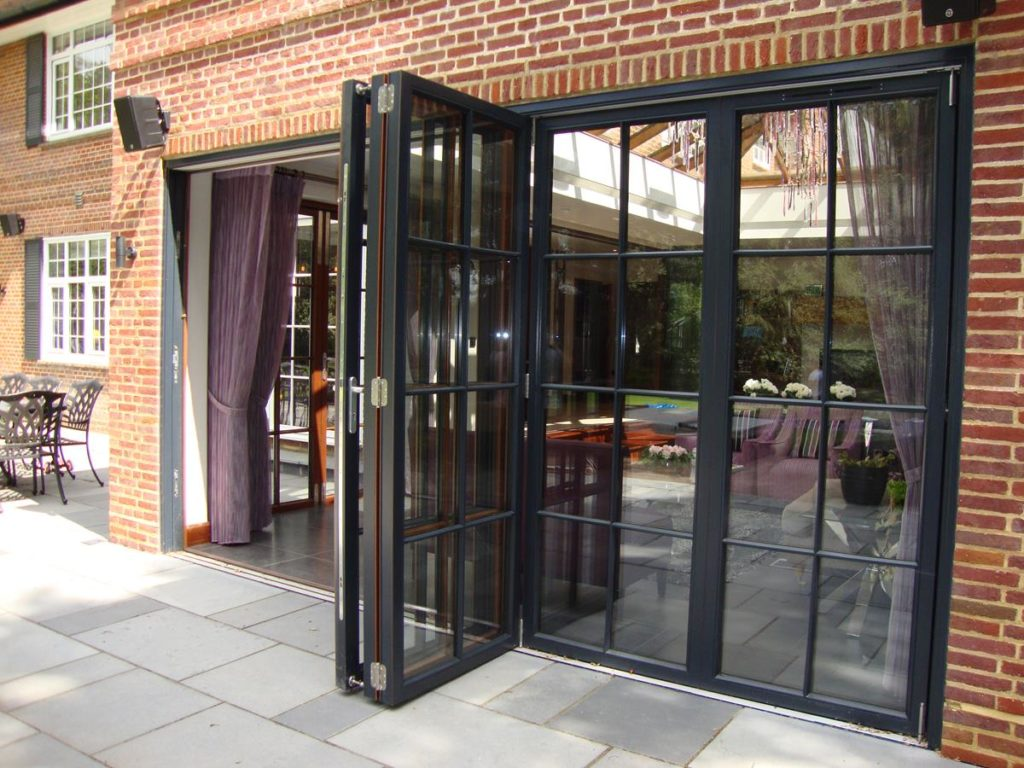 Black Accordion Doors : Hardwood timber window doors windows joinery